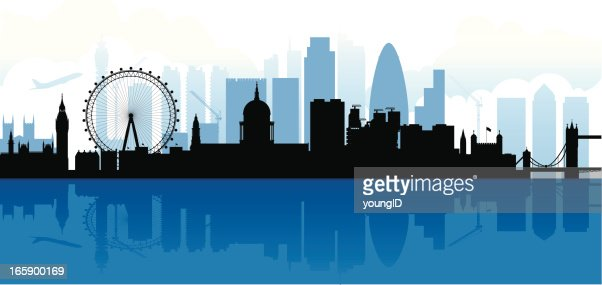 London Skyline Silhouette Vector Art Getty Images