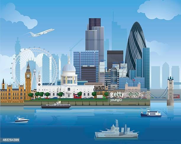 london skyline - england stock illustrations
