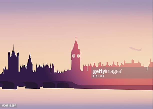 london skyline -vector - city of westminster london stock illustrations