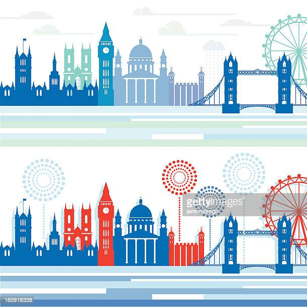 london skylines - city of westminster london stock illustrations