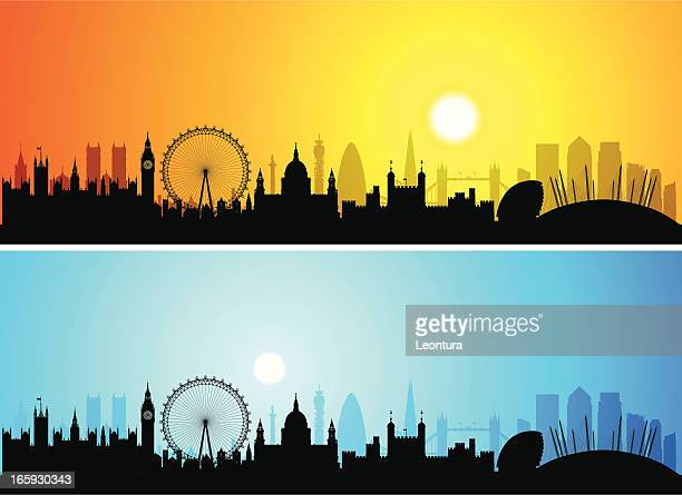 London Skylines (Buildings Are Detailed, Moveable and Complete)