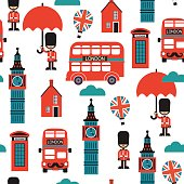 London street cartoon vector