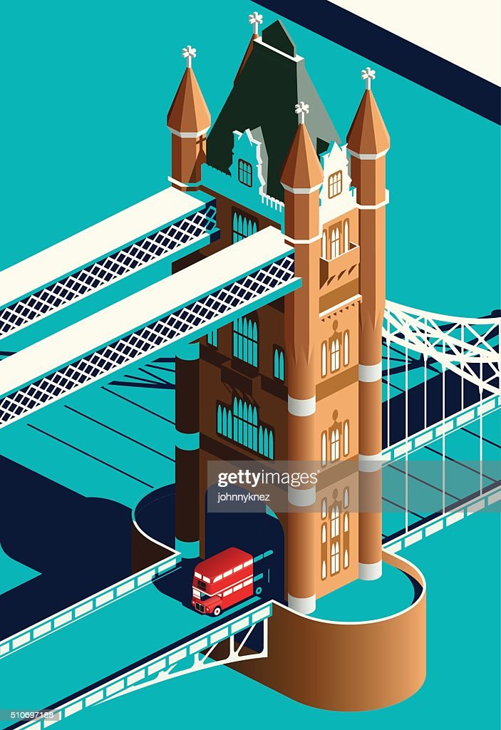 London Tower Bridge and double decker bus