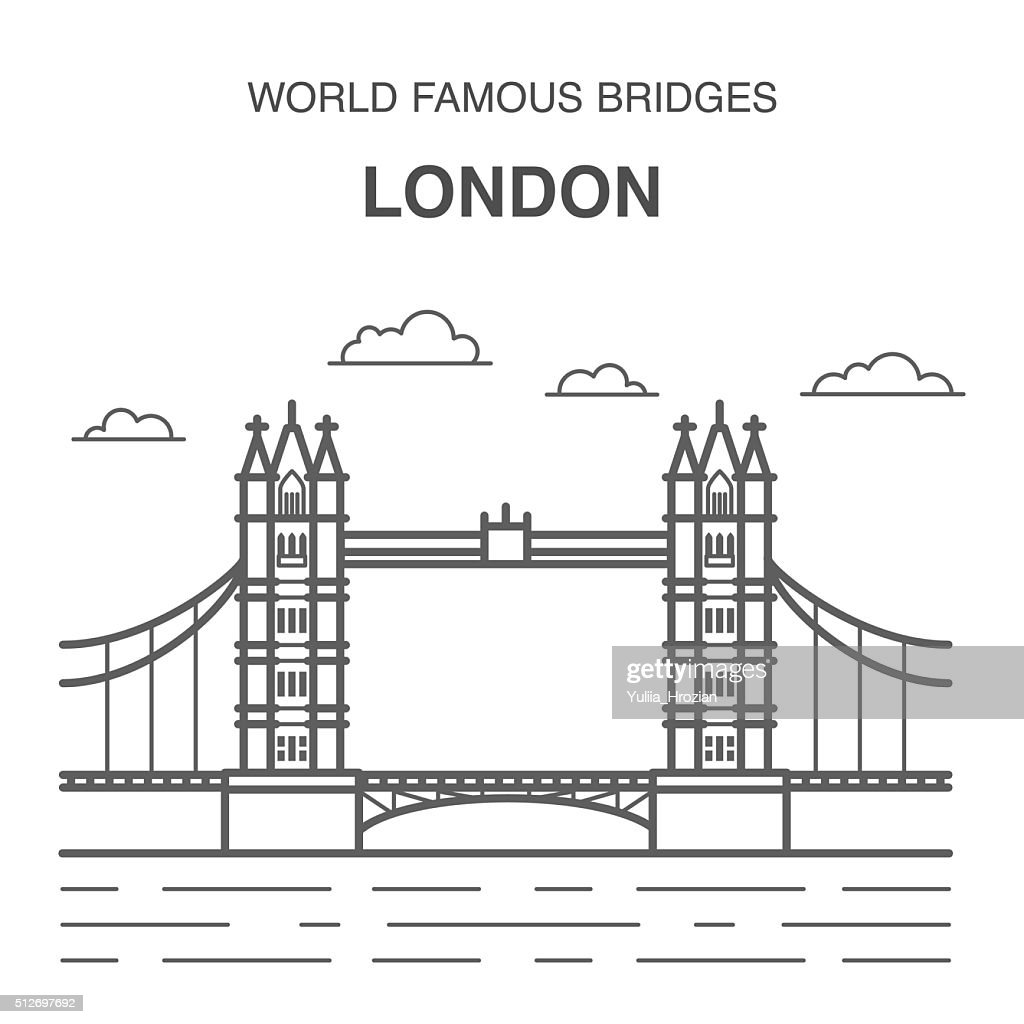 London Tower Bridge Illustration