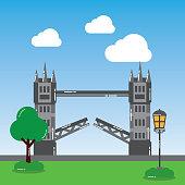 london tower bridge street lamp tree landmark landscape