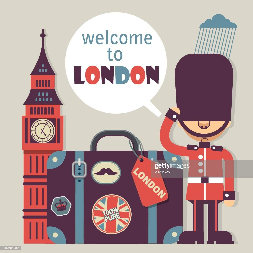 London vector flat style background