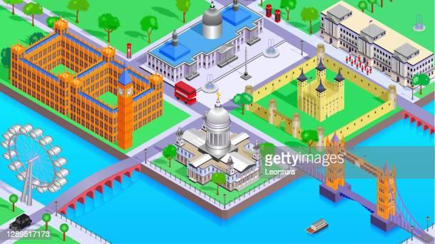 ロンドン - セントラル・ロンドン点のイラスト素材/クリップアート素材/マンガ素材/アイコン素材