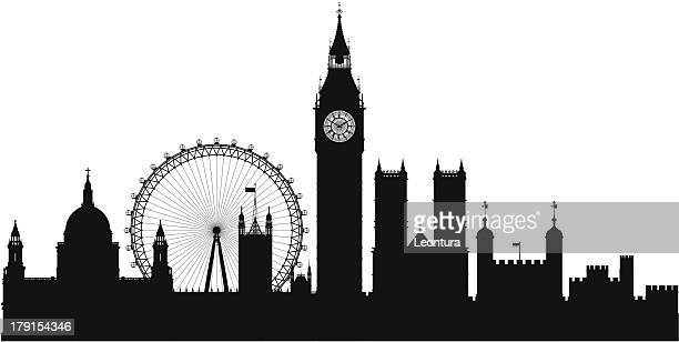 london (each building is moveable and complete) - london england stock illustrations