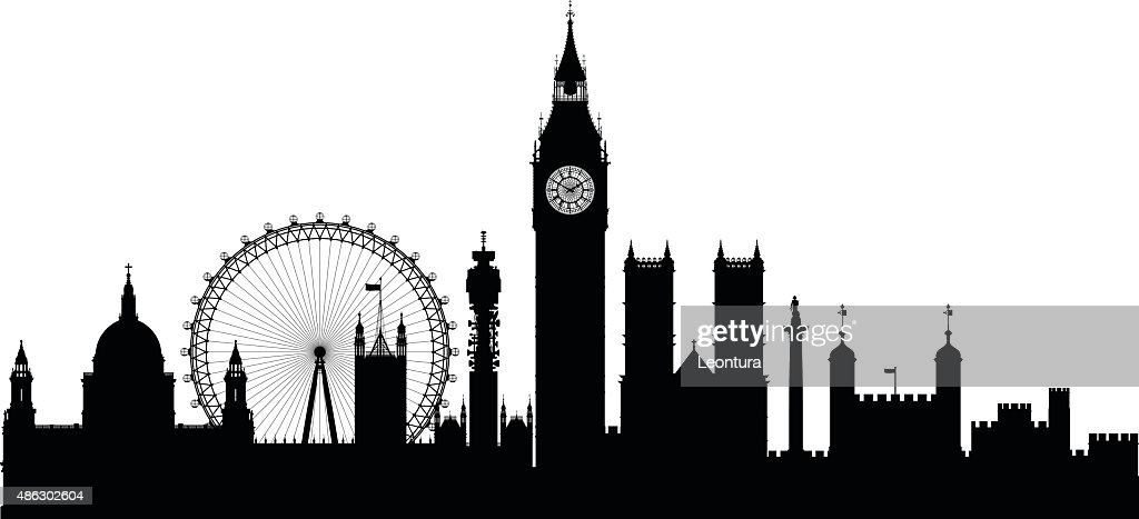 London (Buildings Are Detailed, Complete and Moveable) : stock illustration