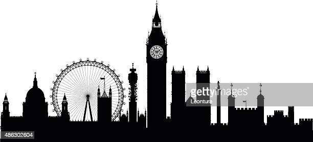 london (buildings are detailed, complete and moveable) - skyline stock illustrations