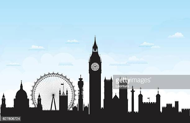 london (buildings are complete, moveable and highly detailed) - london england stock illustrations