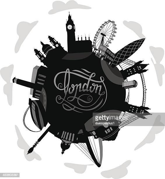 London Welt mit bedeutende Gebäude