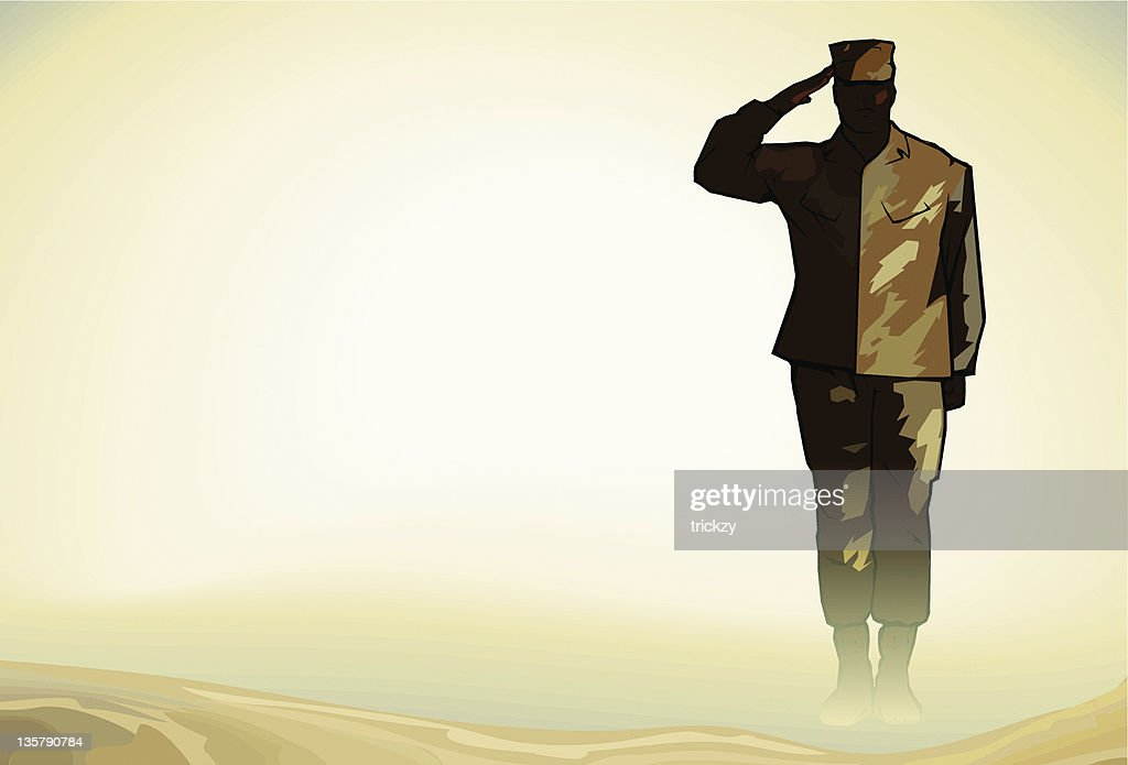Lone Soldier Salute in Desert