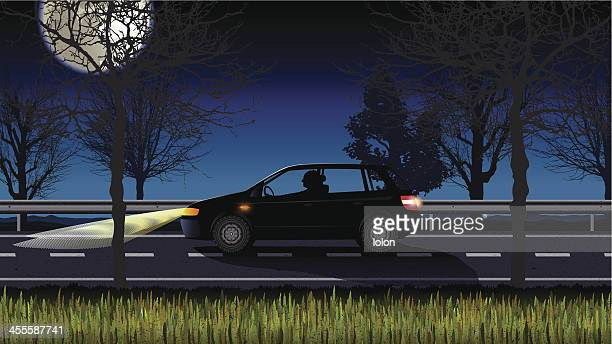 lonely driver at night