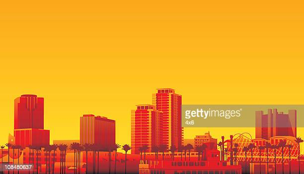 long beach california - long beach california stock illustrations