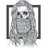Long Hair Skull