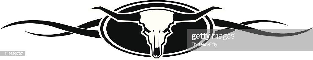 Long Horn Bull Skull