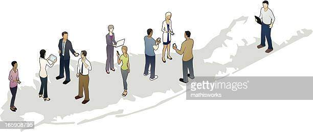 long island karte mit business personen - mathisworks stock-grafiken, -clipart, -cartoons und -symbole