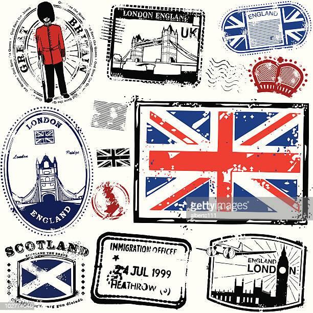 long live londinium - british culture stock illustrations