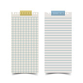 Long rectangle shape blank old notepaper and for note something