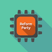 Long shadow cpu with  the text Reform Party