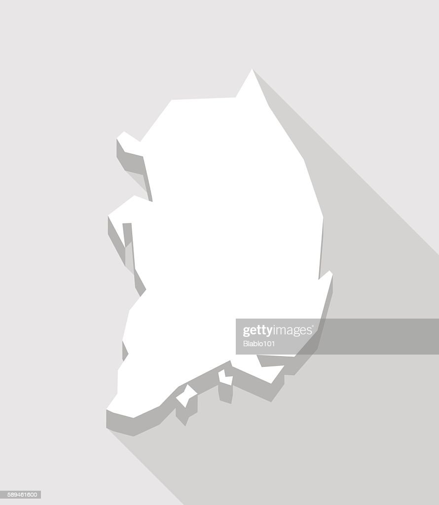 Long shadow South Korea map