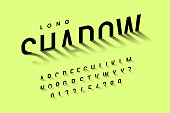 Long shadow style font