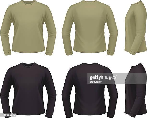 long sleeve shirt - t shirt stock illustrations, clip art, cartoons, & icons