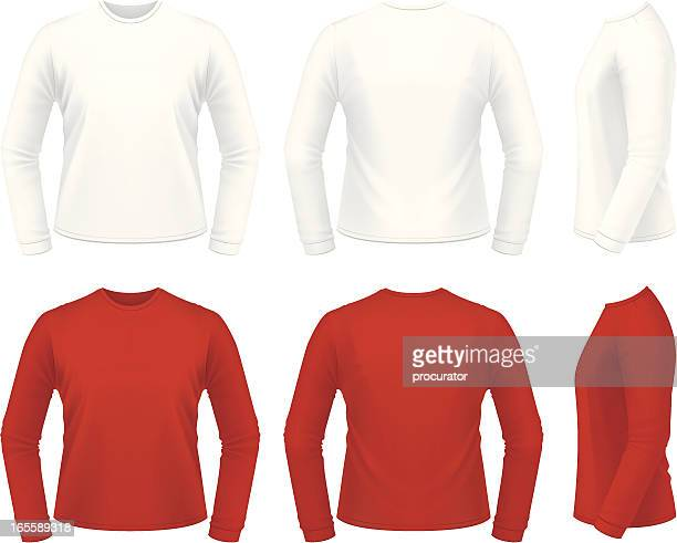 long sleeve shirt - sweater stock illustrations, clip art, cartoons, & icons