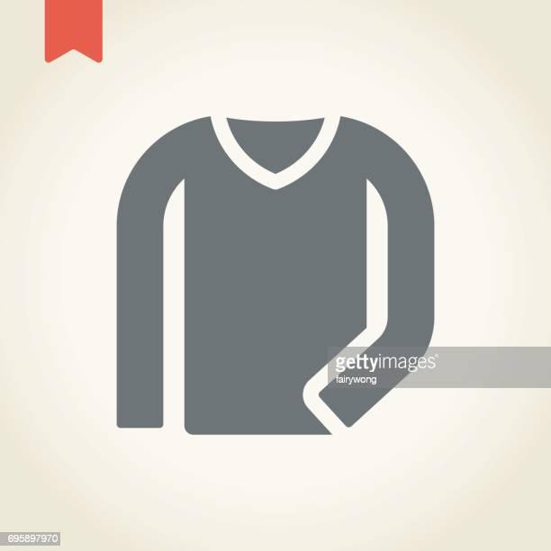 long sleeve t-shirt icon - long sleeved stock illustrations