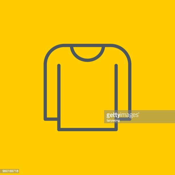 long sleeve t-shirt icon - long sleeved stock illustrations