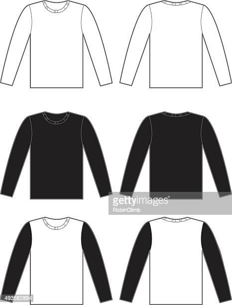 long sleeve t-shirts - long sleeved stock illustrations