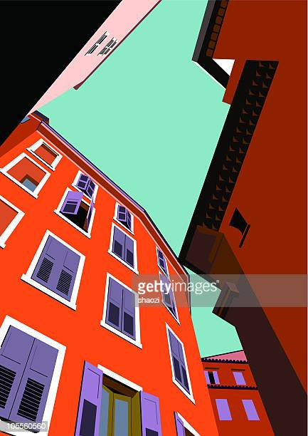 look up orange building