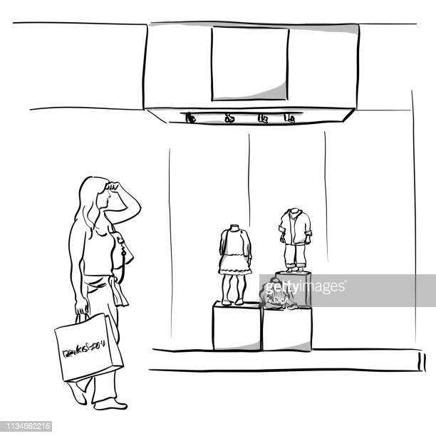looking for my husband mall shopping - artist's model stock illustrations, clip art, cartoons, & icons