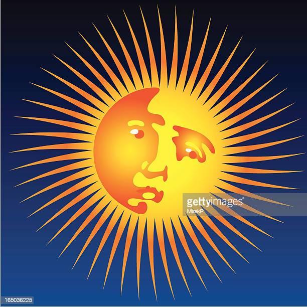 looking sun - star chart stock illustrations