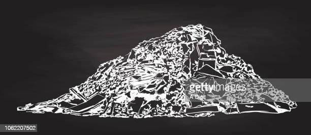 見えるし、ゴミのようなにおい - 埋め立てごみ処理地点のイラスト素材/クリップアート素材/マンガ素材/アイコン素材