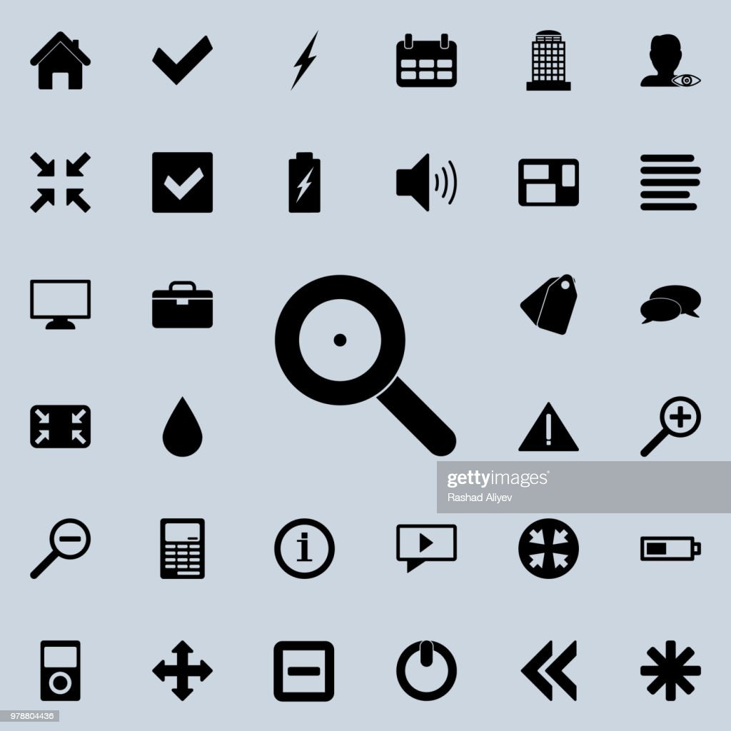 loop magnifier icon. Detailed set of minimalistic icons. Premium graphic design. One of the collection icons for websites, web design, mobile app