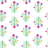 Loopable seamless floral pattern