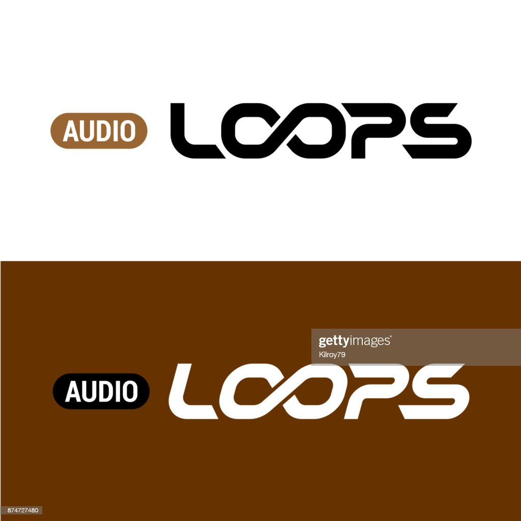 Loops Text Symbol With Infinity Sign Inside Vector Art Getty Images