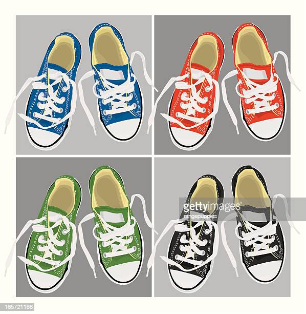 loose laces - footwear stock illustrations, clip art, cartoons, & icons