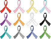 Loosely Drawn Awareness Ribbons