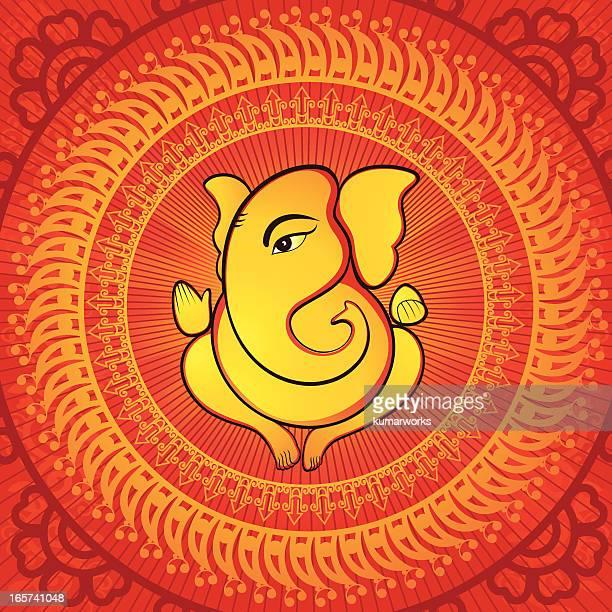 lord ganesh - ganesha stock illustrations