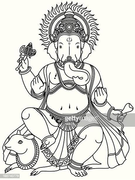 lord ganesha - ganesha stock illustrations