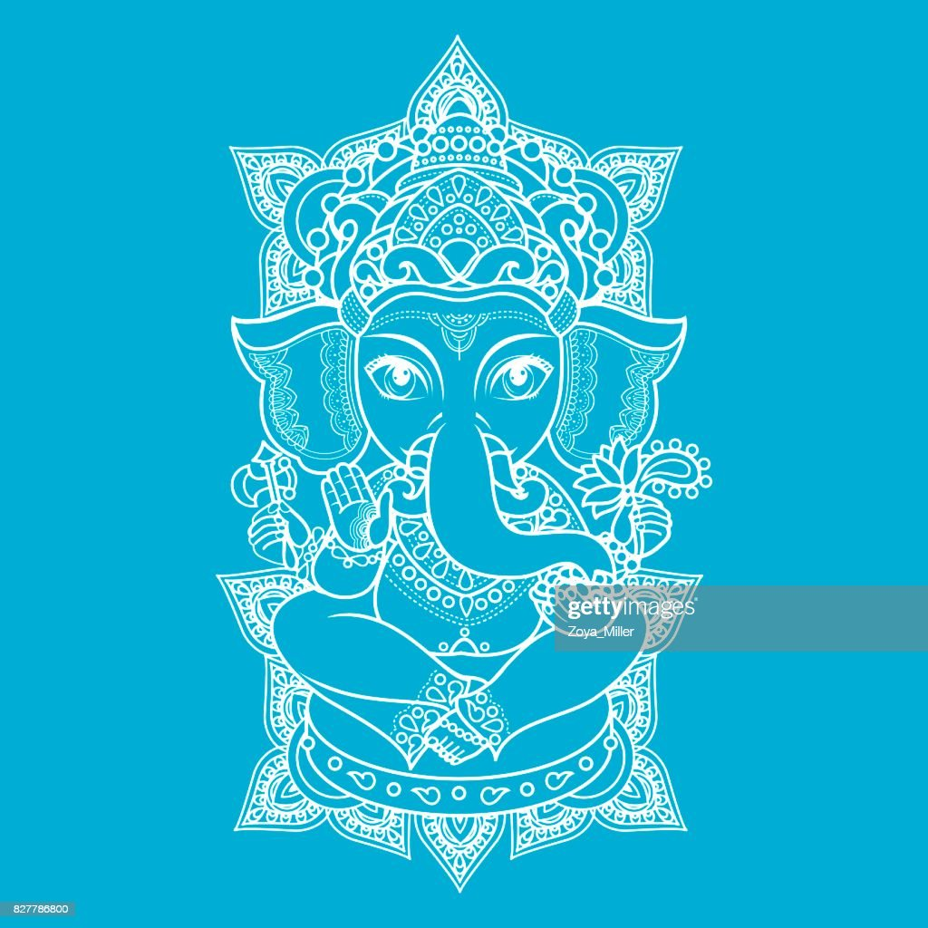 Lord Ganesha. Vector illustration