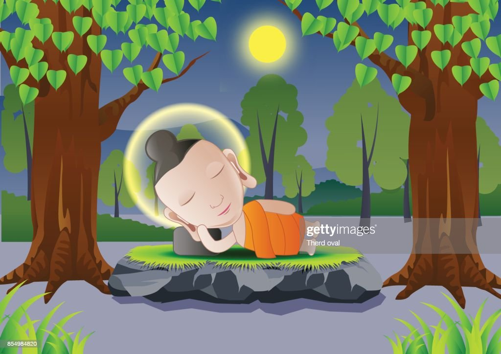 Lord Of Buddha Sleep Under Tree In Cartoon Versionused Well For Important Days Of Buddhism High Res Vector Graphic Getty Images This video where he is a. https www gettyimages com detail illustration lord of buddha sleep under tree in cartoon royalty free illustration 854984820