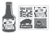 Lorem's BBQ Sauce Bottle with Labels