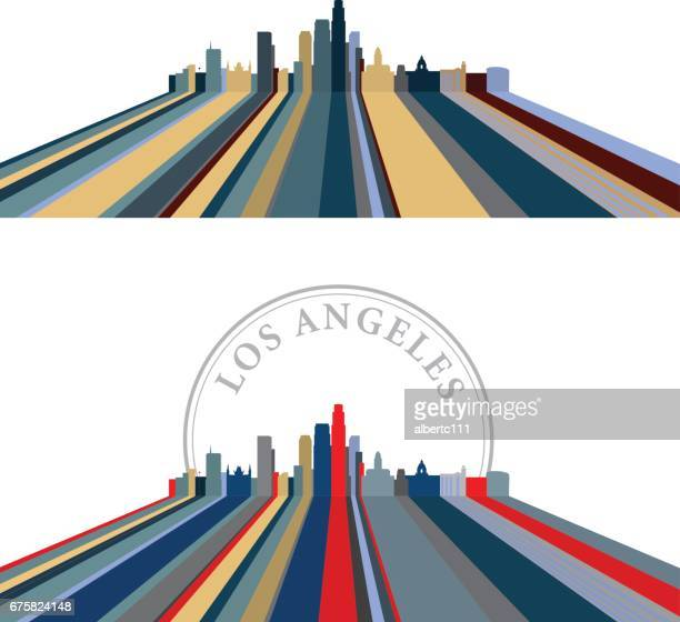 Los Angeles Lined Cityscape