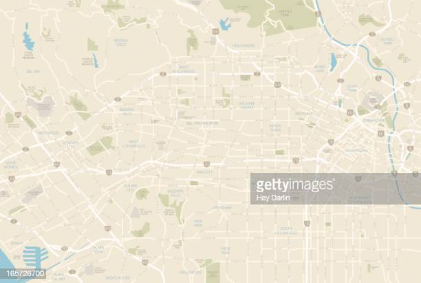 los angeles map - westwood neighborhood los angeles stock illustrations