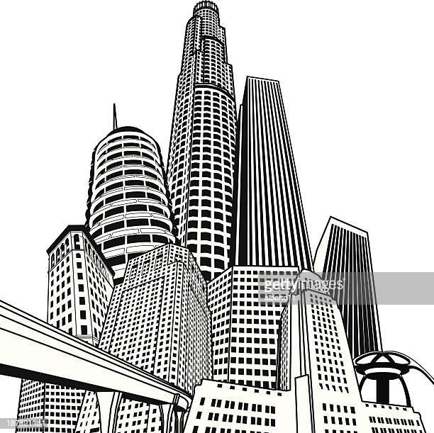 los angeles mega-stadt - amerikanische kontinente und regionen stock-grafiken, -clipart, -cartoons und -symbole