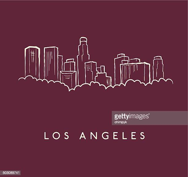 Los Angeles Skyline Sketch